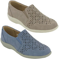Cushion-Walk Casual Leisure Shoes Womens Slip On Flat Soft Padded Comfort UK 3-8