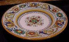 Deruta Majolica Italian Pottery - RAFFAELLESCO PASTA / SOUP Bowls - Set of 8