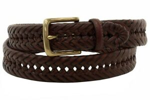 Tommy Hilfiger Men's Brown Whip Lace Braided Belt