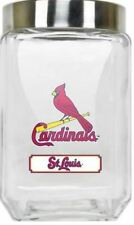 St. Louis Cardinals Jar Glass Canister Large Container With Lid Duckhouse MLB