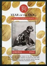 Liberia 2018 MNH Year of Dog Famous Dogs 1v S/S Chinese Lunar New Year Stamps
