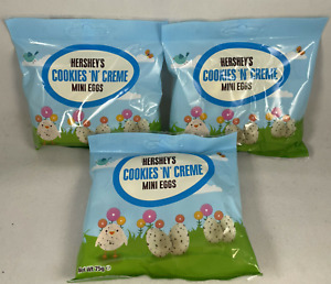 3x Hershey's Cookies N Creme Mini Eggs Bag 75g Easter Chocolate