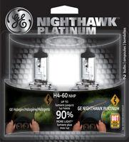 Headlight Bulb-Nighthawk Platinum Twin Blister Pack GE Lighting H4-60NHP/BP2