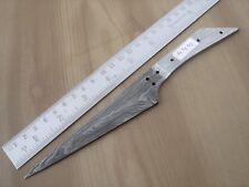 "8.50"" custom made hunting Damascus steel knife blank blade random 4442"