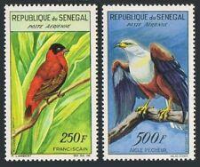 Senegal C29-C30,lightly hinged.Michel 242-243. Red bishop,Fish eagle,1960-1963