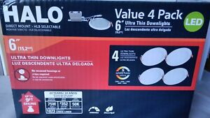 HLB 6'' Color Selectable New Construction & Remodel Integrated Led kit 4pk HALO