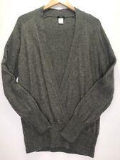 J Crew Dream Draped V-Sweater Gray Cashmere Wool Blend Wrap #29186 XL