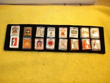 Collection of 16 VERY RARE cigarette wood buttons signed nice collection