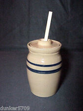 New listing 5 3/4 Inch Tall Pottery Clay Storage Pot Jar With Lid & Stick Jam Honey Syrup #1