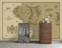 3D Study Yellow Map R467 Wallpaper Wall Mural Self-adhesive Commerce Amy