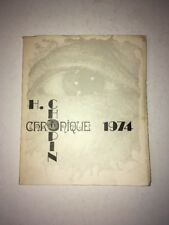 Henri Chopin Chronique 1974 SIGNED