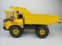 Vintage Mighty Tonka Metal Dumptruck Xmb-975 Yellow Toy