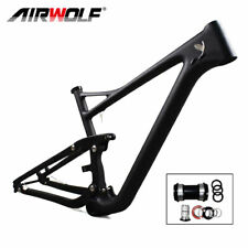 "T1000 29ER 17"" Matte PF30 Carbon Suspension Bike Frame With Max Tires 29*2.4inch"