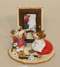 Wee Forest Folk A Stitch in Time 1970s Red & White LTD-10 (D) Guitar Mirror Mice