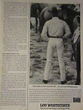 """1965  Lee Western Jeans Original Print Ad-8.5 x 10,5"""""""