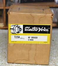 Electro Voice EV T25A Driver 8 Ohms Vintage White T 25a