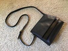 KATE SPADE SATURDAY Handbag. Black Glossy / Matte Leather satchel crossbody.