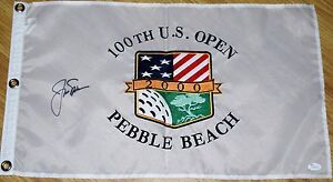 JACK NICKLAUS Signed 2000 US OPEN FLAG - JSA LOA Embroidered