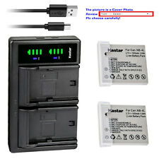 Kastar Battery LTD2 Charger for Canon NB-4L NB-4LH PowerShot SD1100 IS SD1400 IS