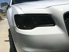 2011-2017 CHRYSLER 300 300C SMOKE HEAD LIGHT PRECUT TINT COVER SMOKED OVERLAYS