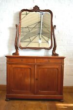 Antique Victorian dressing table - vanity dressing chest - washstand