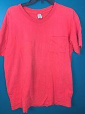 New listing Vintage 80's Hanes Blank Red Pocket T Shirt Single Stitch Men's Xl Cotton Thrash