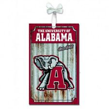 University Of Alabama Corrugated Metal Ornament Christmas Holiday Gift