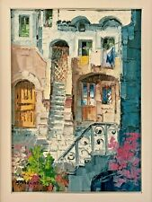 Antonio DiViccaro Original Palette knife Oil Painting Italy Scorcio Di Viccaro