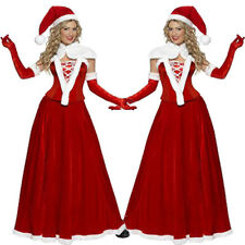 Sexy Women Adult Mrs Santa Claus Christmas Xmas Costume Party Outfit Fancy Dress