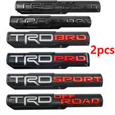 2Pcs Trd Pro/Off Road/Bro/Sport Door Emblem Sticker Badge For Toyota Tacoma Oem