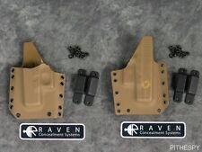 Left Raven Concealment Phantom Coyote Full Shield Holster for Glock 26 27 33