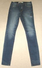 BNWT Abercrombie & Fitch a&f High Rise Super Skinny Jeans Bleu W27 RRP £ 78