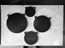 """Steel gong AR500 shooting targets 4 PCS SET 1/2"""" X 4"""", 6"""", 8"""" AND 10"""" AR500"""