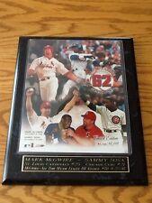 Mark McGwire Sammy Sosa 62 Home Run Limited Edition Plaque