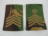 British Army Drum Major Woodland Camouflage DPM Epaulette Rank Slides PAIR Z4 A1