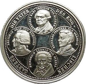 Silver 1989 English Garden 200 Years Commemorative Medallion Coin Munich i39637