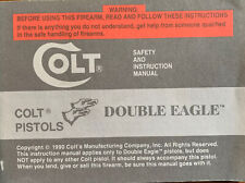 Colt Double Eagle Safety and Instruction Manual