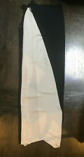 NWT ANN DEMEULEMEESTER SILK BLACK WHITE WRAP FULL LENGTH SKIRT SZ 4 6 $1200