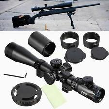 6-24x50 Tactical Red Mil Dot IR Illuminated Optic Hunting Rifle Scope w/ Ring