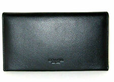 NWT Coach F32624 Unisex Cell Phone Universal Sport Calf Leather Wallet Black