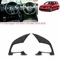 Vehicle Steering Wheel 2Sides Carbon Fiber Sticker For VW Golf 7 GTI MK7 2014-19