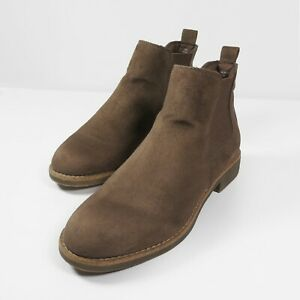 TU Brown Faux Suede Leather Chelsea Boots Ankle Shoes Women's UK Size 6 EU 39