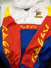 PAC-MAN Colorblock Japanese Katakana [LARGE] Windbreaker Pull-Over Jacket Men