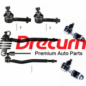 6Pcs Front Inner & Outer Tie Rod Sway Bar Link Kit For Tracker X-90 Sidekick