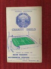 More details for 1958 charity shield programme, bolton v wolves, 6/10/1958