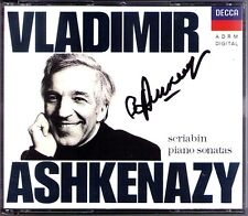 Vladimir Ashkenazy firmato Scriabin 10 Piano Sonatas Decca 2cd pianoforte SONATE