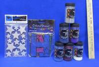 Glitter Extra Fine 6 Colors Happy New Year Streamer & Star Stickers Craft Lot