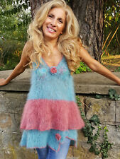 NEW-Hand-Knitted-Mohair-Fuzzy-Soft-NIGHT DRESS-FETISH-by-Touch-of-Mohair S-L