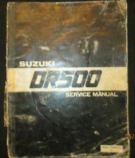 1981 1982 SUZUKI DR500 Motorcycle Service Repair Manual Factory Original OEM