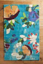 New Anthropologie MAGNOLIA RUG 5X8 Watercolor BRUSH STROKES